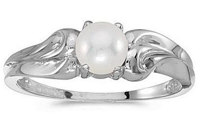 14k White Gold Pearl Ring (CM-RM1037XW-06)