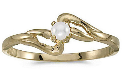 10k Yellow Gold Pearl Ring (CM-RM1039-06)
