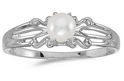 14k White Gold Pearl Ring (CM-RM1058XW-06)