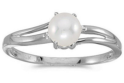 14k White Gold Pearl And Diamond Ring (CM-RM1992XW-06)