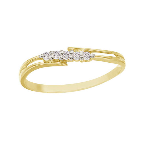 14k yellow gold and bypass promise ring cm rm9152x