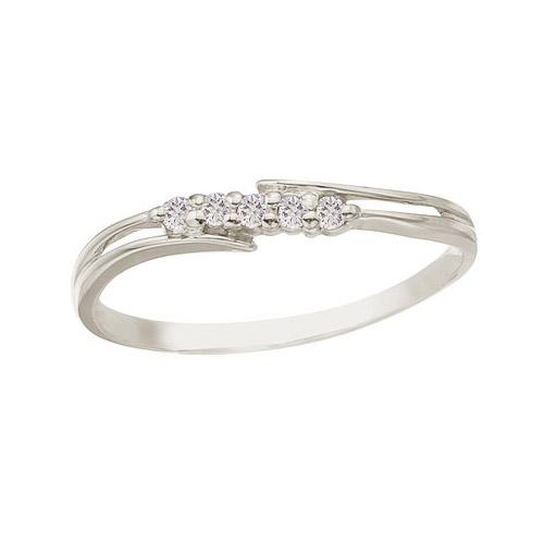 14K White Gold and Diamond Bypass Promise Ring (CM-RM9152XW)