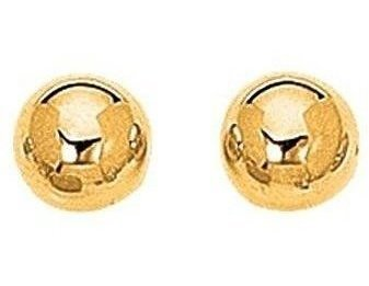 "14K Yellow Gold 10.0mm (3/8"") Shiny Ball Post Earrings"