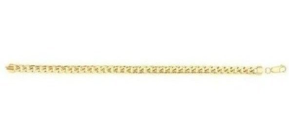 "8.5"" 10K Yellow Gold 6mm (1/4"") Lite Miami Curb Chain Bracelet"