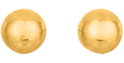 "14K Yellow Gold 3.0mm (1/8"") Shiny Ball Post Earrings"