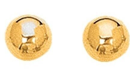 "14K Yellow Gold 8.0mm (1/3"") Shiny Ball Post Earrings"