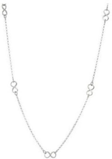 "18"" 1.95mm (0.08"") Infinity Symbol Rolo Chain Necklace Rhodium Plated 925 Sterling Silver"