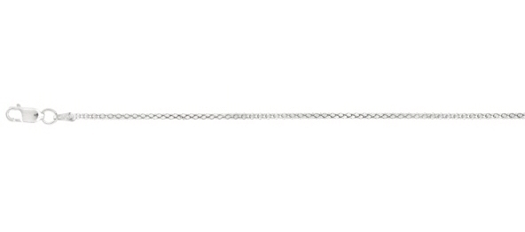 "18"" 1.8mm (0.07"") Rhodium Plated Polished Diamond Cut Fancy 925 Sterling Silver Popcorn Chain w/ Lobster Clasp"