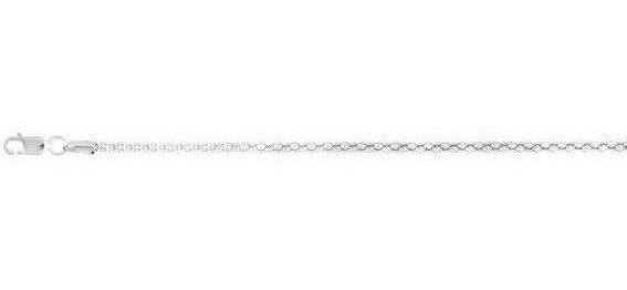 "20"" 2.5mm (1/10"") Rhodium Plated Polished Diamond Cut Fancy 925 Sterling Silver Popcorn Chain w/ Lobster Clasp"