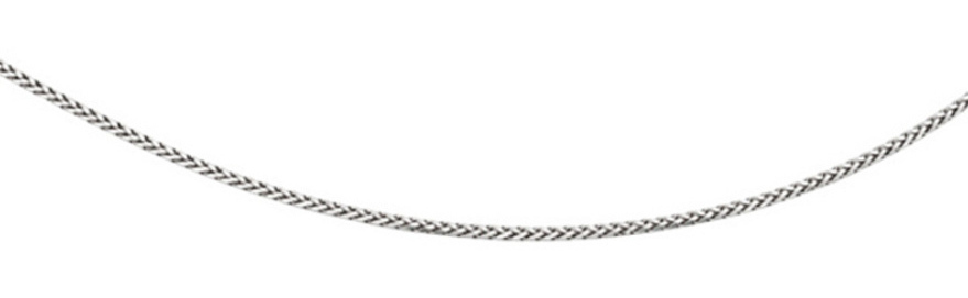 "24"" Rhodium Plated 925 Sterling Silver 3.80mm (1/7"") Diamond Cut Round Wheat Men's Chain w/ Pear Shape Clasp"