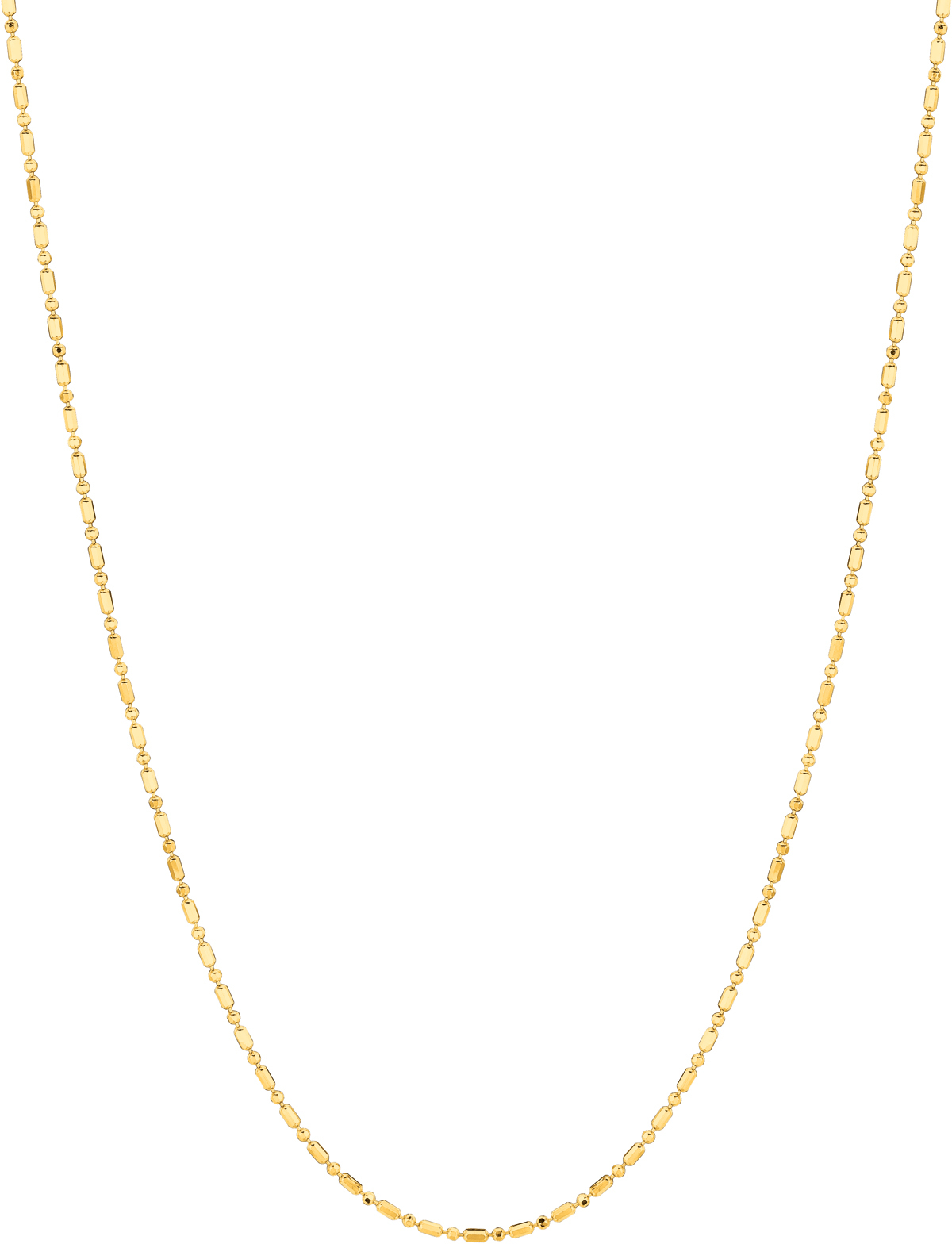 "18"" 14K Yellow Gold 1.2mm (0.05"") Diamond Cut Bead Chain w/ Lobster Clasp"