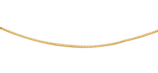 "13"" 14K Yellow Gold 0.6mm (0.02"") Polished Classic Box Chain w/ Spring Ring Clasp"