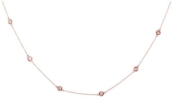 "18"" 14K Rose Gold 0.25ctw Diamond Necklace (BTDGN320-18)"