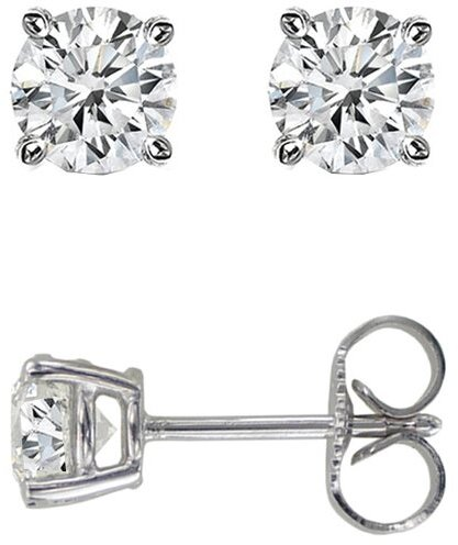 14K White Gold .05ctw Round Diamond Stud Earrings (BTDWGE100)