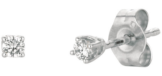 14K White Gold .05ctw Round Diamond Stud Earrings (BTDWGE200)