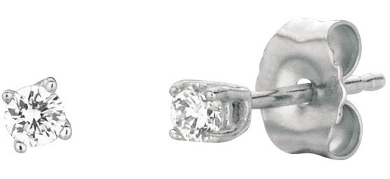 14K White Gold .10ctw Round Diamond Stud Earrings (BTDWGE201)
