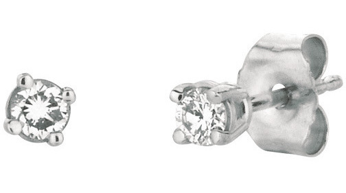 14K White Gold .15ctw Round Diamond Stud Earrings (BTDWGE202)