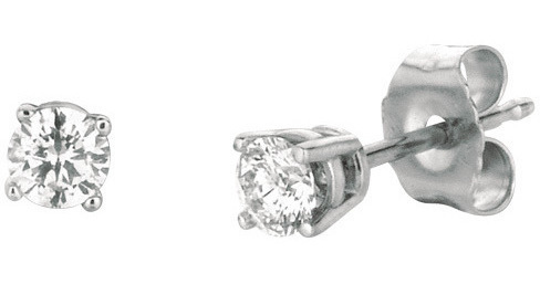 14K White Gold .25ctw Round Diamond Stud Earrings (BTDWGE204)