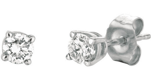14K White Gold .35ctw Round Diamond Stud Earrings (BTDWGE205)