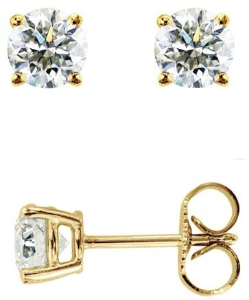14K Yellow Gold .10ctw Round Diamond Stud Earrings (BTDYGE101)