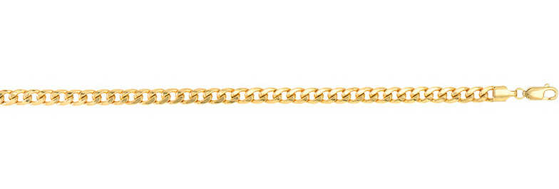 "20"" 14K Yellow Gold 5.5mm (2/9"") Lite Miami Cuban Link Chain Necklace"
