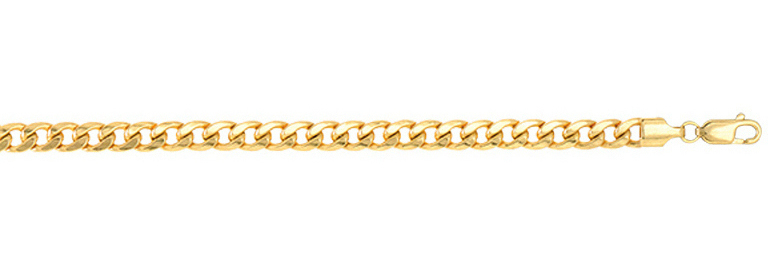 "22"" 14K Yellow Gold 6.5mm (1/4"") Lite Miami Cuban Link Chain Necklace"