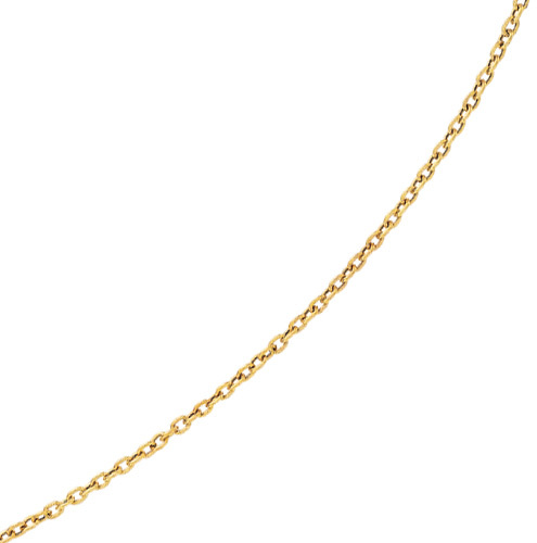 "18"" 14K Yellow Gold 3.5mm (1/7"") Diamond Cut Oval Textured Link Chain w/ Lobster Clasp"