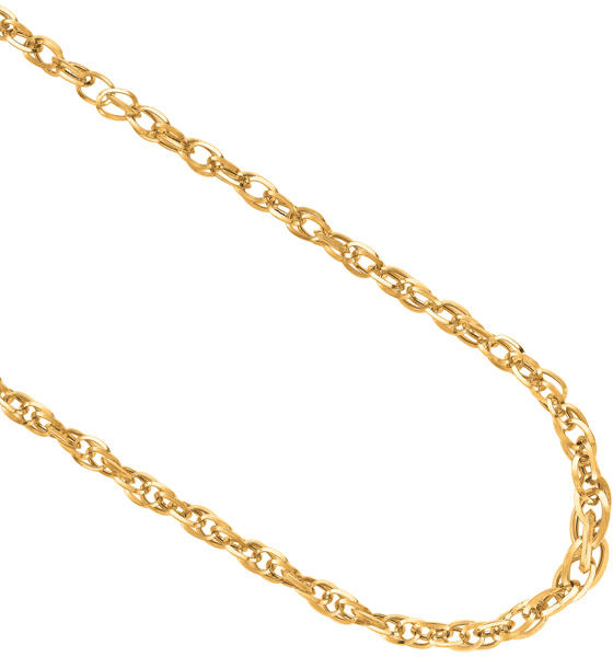 "18"" 14K Yellow Gold Shiny Euro Link Necklace w/ Spring Ring Clasp"