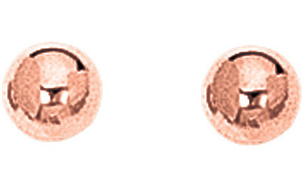 "14K Rose Gold 5mm (1/5"") Ball Earrings"