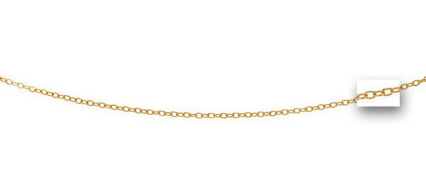 "16"" 14K Rose Gold 2.5mm (1/10"") Shiny Textured Fancy Pendant Chain w/ Lobster Clasp"