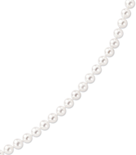 "20"" 14K Yellow Gold 6.5-7.0mm (0.26""-0.28"") White Pearl Necklace w/ Fish Clasp"