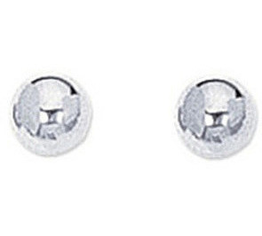 "14K White Gold 5mm (1/5"") Ball Stud Post Earrings"