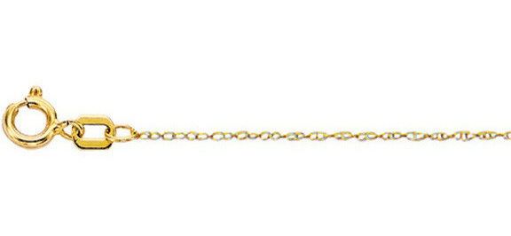 "18"" 10K Yellow Gold Shiny Diamond Cut Carded Rope Chain w/ Spring Ring Clasp (BTZR518)"