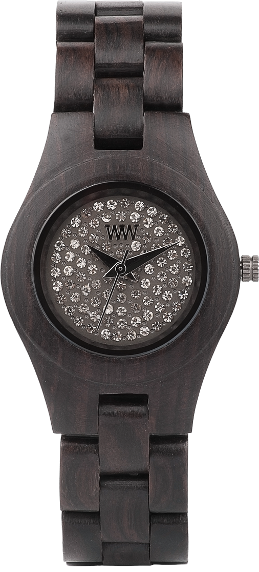 WeWood Wooden Watch - Moon Crystal Black - CLEARANCE