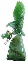 Jade Eagle On Base Figurine (HNW-040)