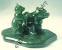 Jade Bear with Cub Figurine (HNW-046) - DISCONTINUED