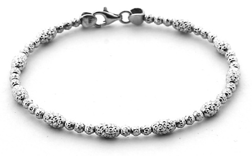 Officina Bernardi - Bombe Bangle Collection - Single Strand White - Italian 925 Sterling Silver