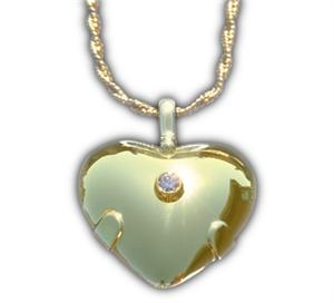 14K Gold w/ Diamond Heart BioElectric Shield (85003)