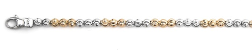 "Officina Bernardi - Moon Collection - 7"" Bracelet (2 Color Choice) - Italian 925 Sterling Silver"