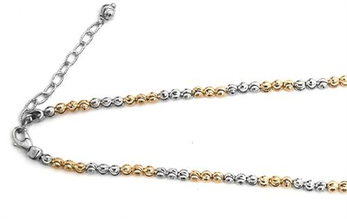 "Officina Bernardi - Moon Collection - 16"" + 2"" Necklace (2 Color Choice) - Italian 925 Sterling Silver"