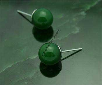 Polar Jade Stud Earrings (1716)