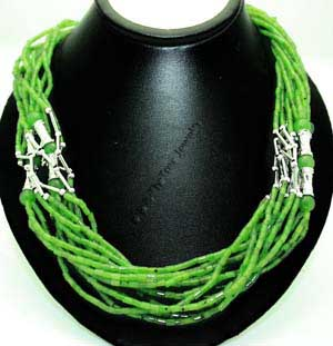 Jade Bead Necklace (UJKK-1851) - DISCONTINUED