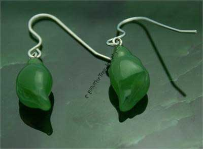 Polar Jade Shell Earrings (1964-K) - DISCONTINUED