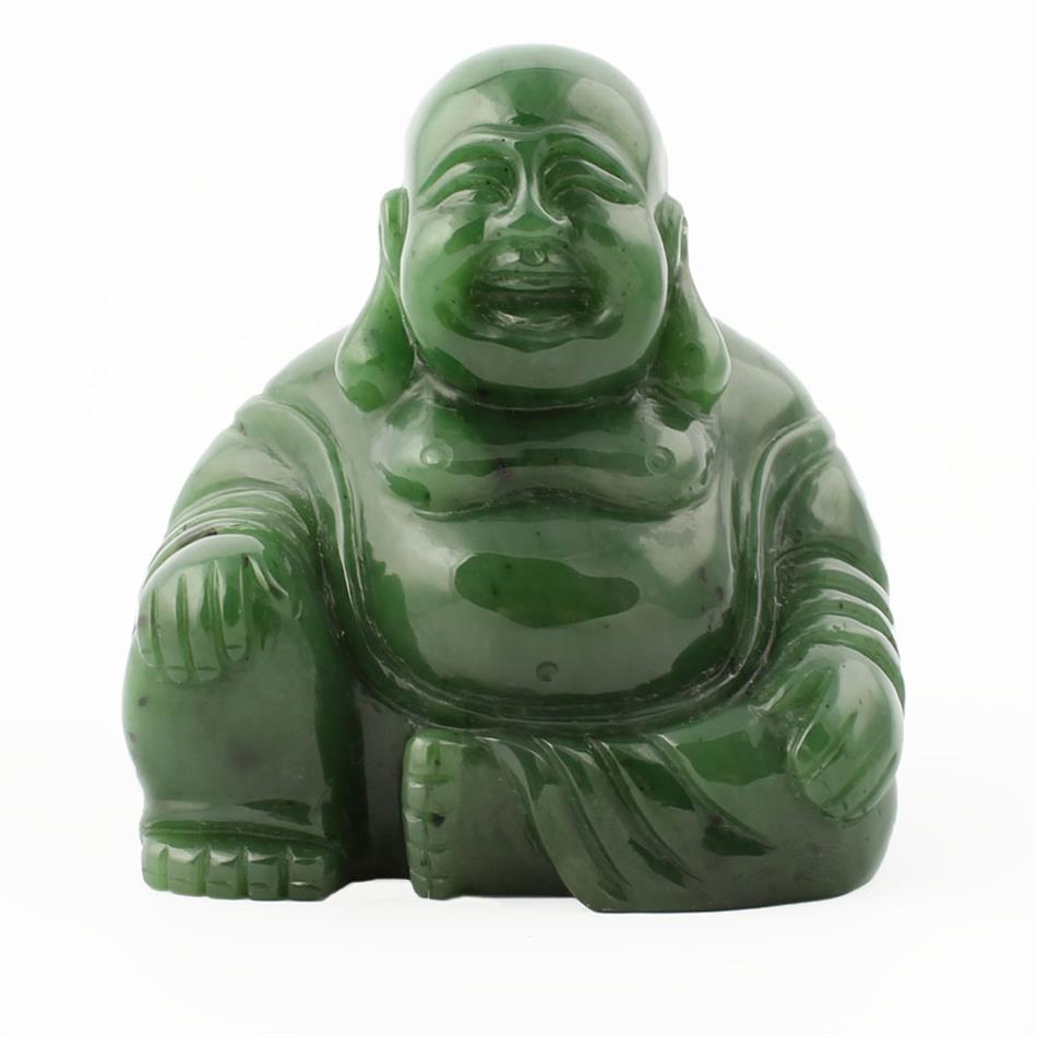 Jade Happy Buddha Figurine