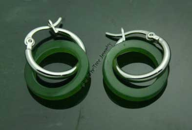 Polar Jade Disc (Donut) Earrings (2380-HK)