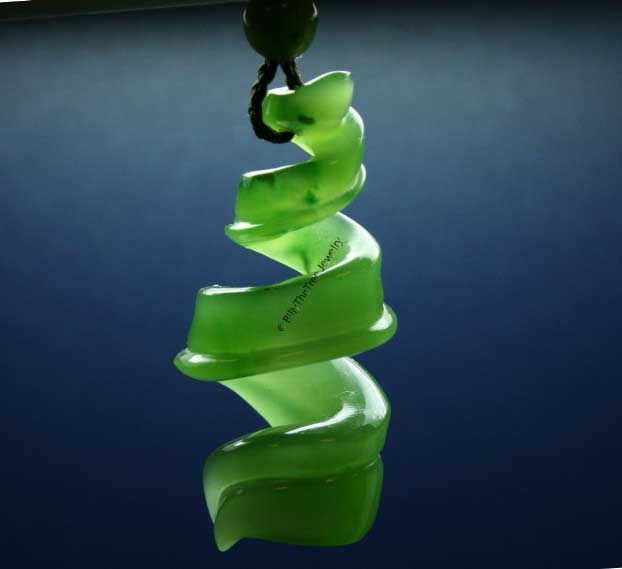 Jade Double Twist Pendant (HNW-2931-1)