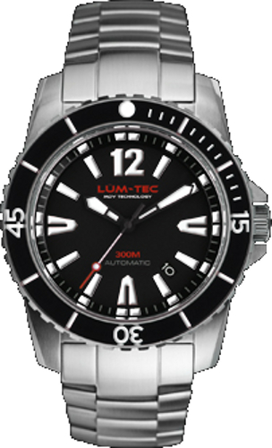 Lum-Tec Watch - 300M-1 - 40mm Automatic Mens Diver w/ 2 Straps