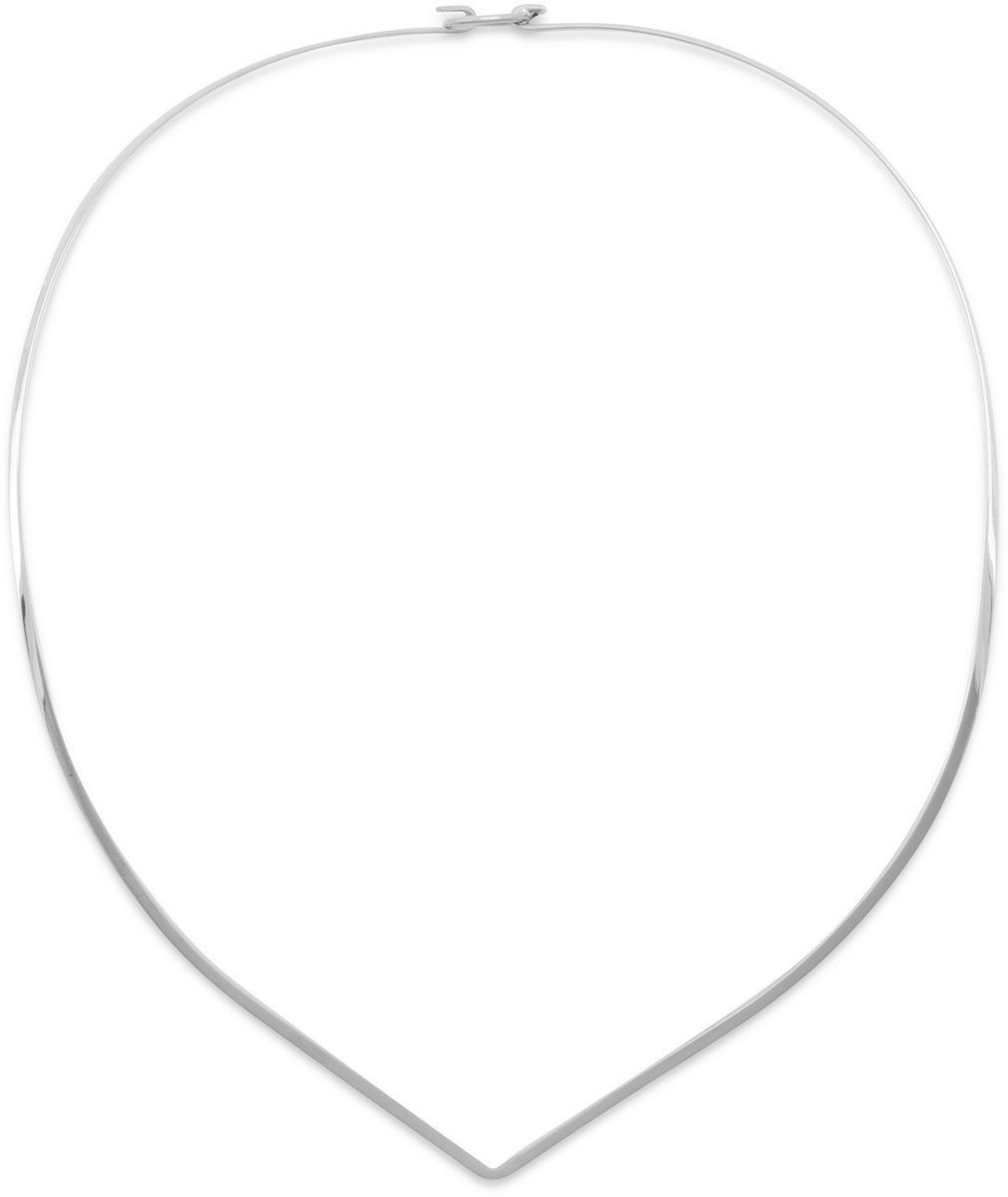 "16"" 2mm (0.08"") ""V"" Collar with Closed Back 925 Sterling Silver"