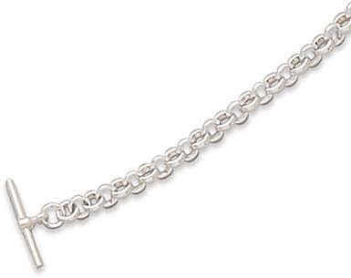"18"" Toggle Rolo Necklace 925 Sterling Silver"