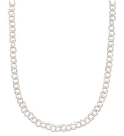"16"" Twisted Round Link Necklace 925 Sterling Silver - DISCONTINUED"